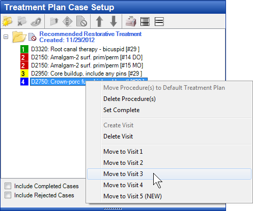 Treatment Plan Case Setup Second Step