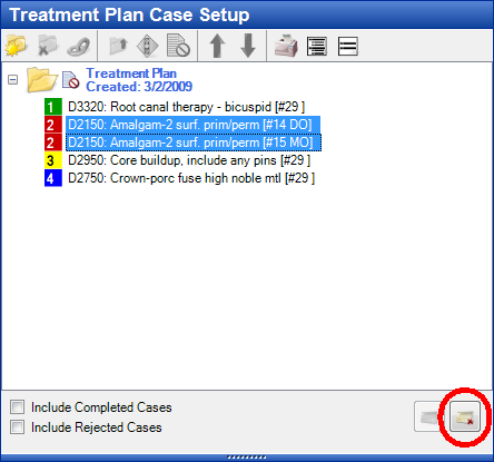 Treatment Plan Case Setup Third Step