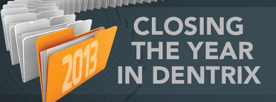 Closing the Year with Dentrix
