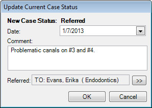 Update Current Case Status