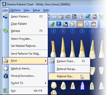 Dentrix Patient Chart