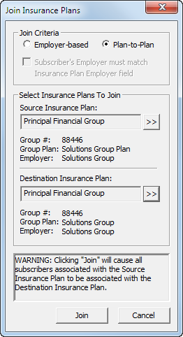 Join Insurance Plans in Dentrix