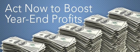 Act Now to Boost Year-End Profits - Article Header