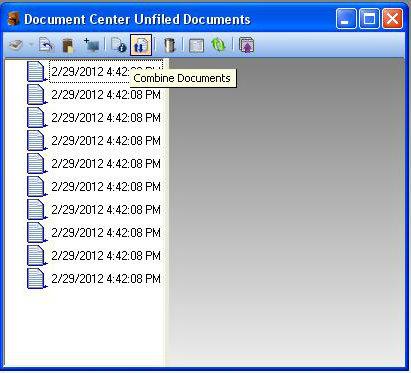 Combine Documents Screen Shot