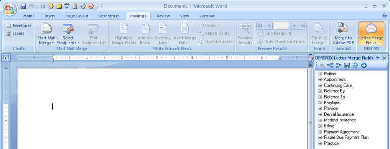 microsoft word letter