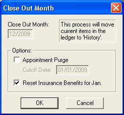 Close Out Month
