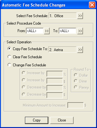 Fee Schedule Setup | Dentrix